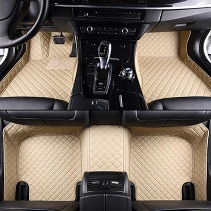Beige  luxury car floor mats set