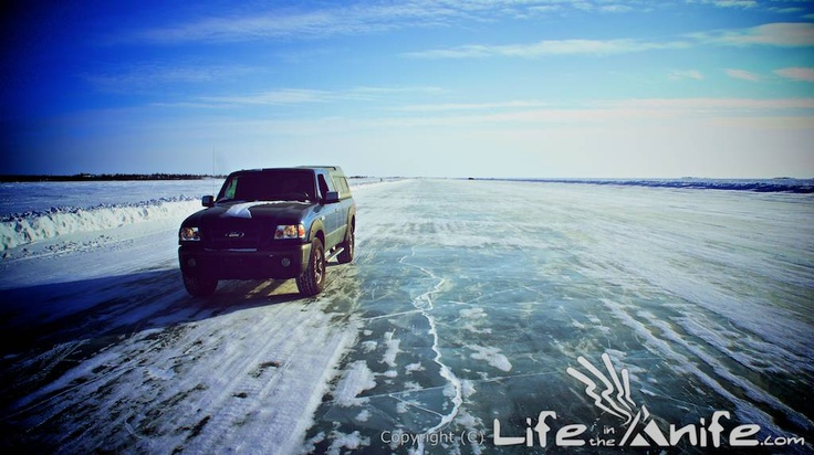 The Dettah Ice Road in the NWT