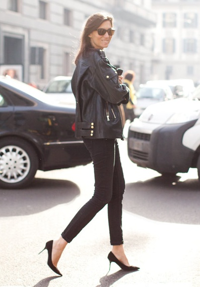 TBT... Emmanuelle getting her moto on. Paris. #EmmanuelleAlt