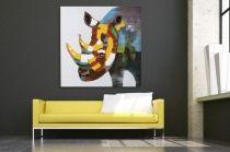 Interior :: Obraz olejny dekoracyjny Rhino PopArt 80x80cm (Z30064)