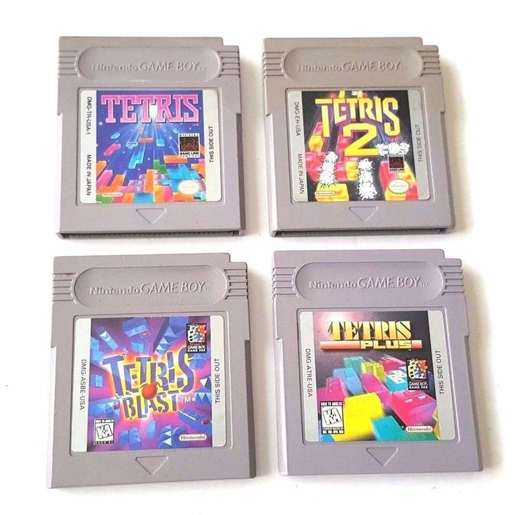 Original Gameboy 4 Game Lot TETRIS ~ TETRIS BLAST  ~  TETRIS 2  ~  TETRIS PLUS