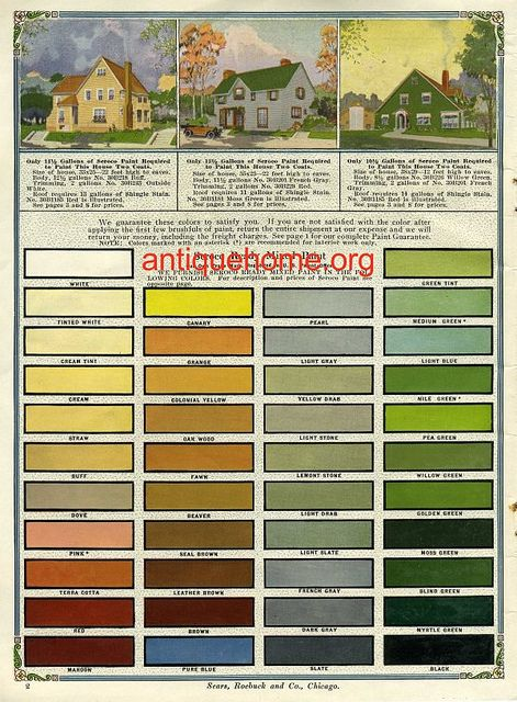 Historic Exterior House Colors | Vintage Exterior Color Schemes - Seroco Paint - 1918 | Flickr - Photo ...