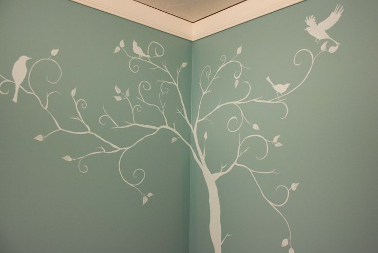 Tree silhouette murals and silhouette on pinterest