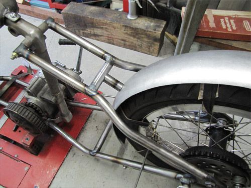 How To Mount A Custom Rear Motorcycle Fender - Part 1 | Lowbrow Customs / Tech