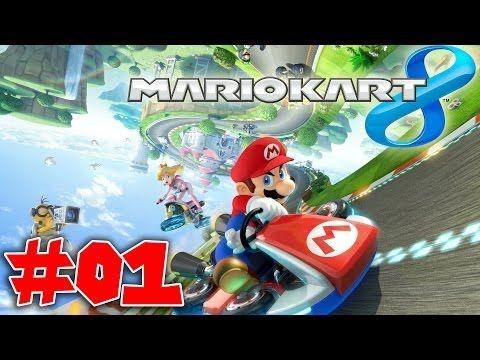 Mario Kart 8 est un jeu de course disponible [sur Wii U]. Mario et ses amis s'y affrontent au volant de karts ou au guidon de motos sur 32 circuits comprenant aussi bien des passages sous l'eau ou dans les airs que des loopings. Douze joueurs peuvent s'affronter en ligne ou 4 en local.