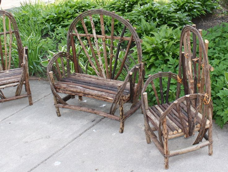 how to make miniature twig furniture | Twig furniture for the wee little ones