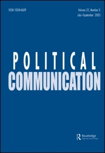 Political Communication features cutting-edge research at the intersection of politics and communication, broadly conceived. Its expansive subject is the site of rapid changes and pressing policy concerns worldwide.