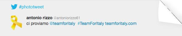 PHOTOTWEET #13  #teamforitaly, ci proviamo