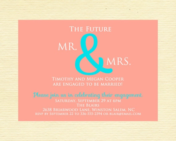 8 best Engagement Invites images on Pinterest Engagement parties - how to word engagement party invitations