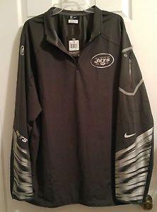 NEW Nike New York Jets Fly Rush Platinum Football Jacket Mens 2XL $155 597639