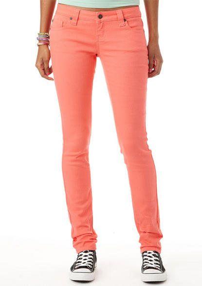 Britt Low-Rise Skinny Color Jean Sugar Coral