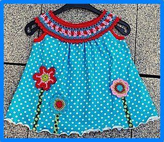 TRICO y CROCHET-madona-mía: Vestidos de Verano para niñas con aplicaciones en ...