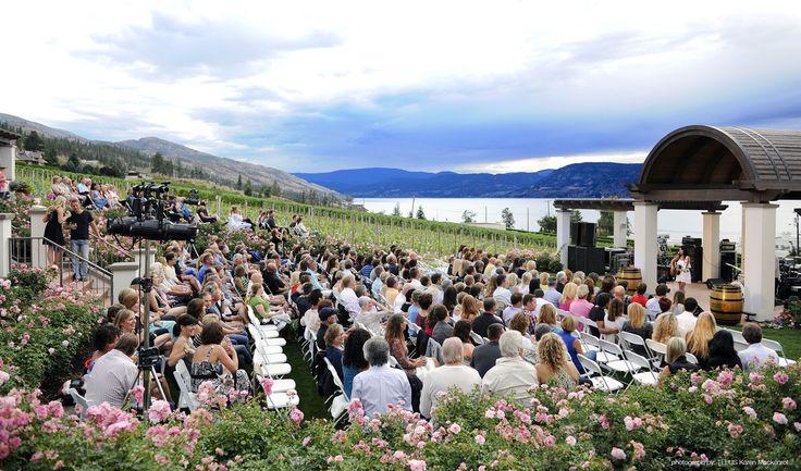 TELUS Sunset Concert Series at CedarCreek Estate Winery. Enjoy live music in the vineyard.  #ExploreBC #ExploreKelowna #ExploreCanada #Winery #WIne #Okanagan #BCVQA