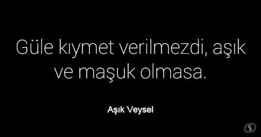 Aşık Veysel ~ Güle kıymet verilmezdi, aşık ve maşuk olmasa.
