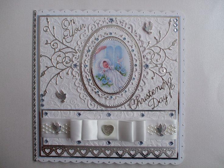 Handmade Christening Card For A Boy My Handmade Cards