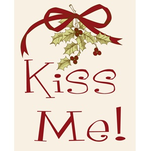 Kiss Me under the mistletoe | Art, Christmas wall art, Art prints