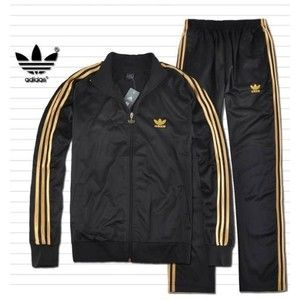 adidas Mens Originals Track Suit Black Gold [adidas Mens Track Suit 6] - $67.99 :