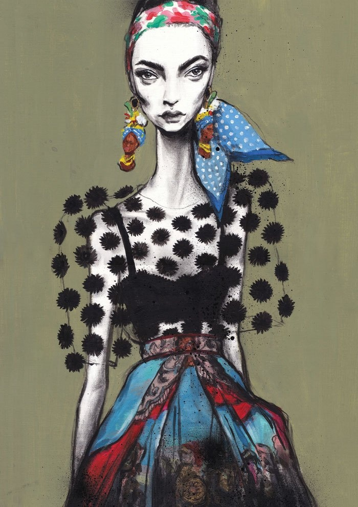 Pippa McManus. Swide.Archives: Dolce & Gabbana S/S 2013 Illustration Project Part 3 | Draw A Dot.