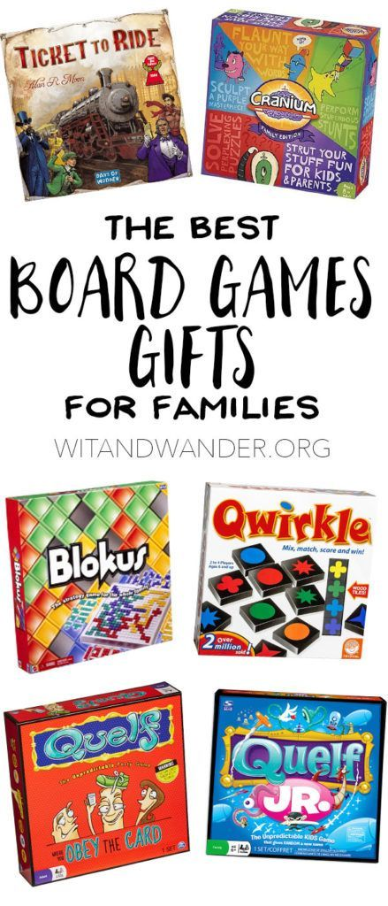 The Best Board Game Gifts for Families - Make family game night something you''ll always remember with these unique board games. They make perfect family gifts for Christmas or birthday gifts for boys and girls who love to play games! Wit & Wander
