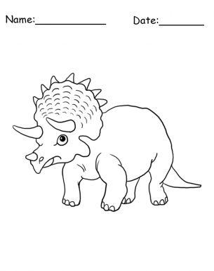 Triceratops Dinosaur Coloring Sheet