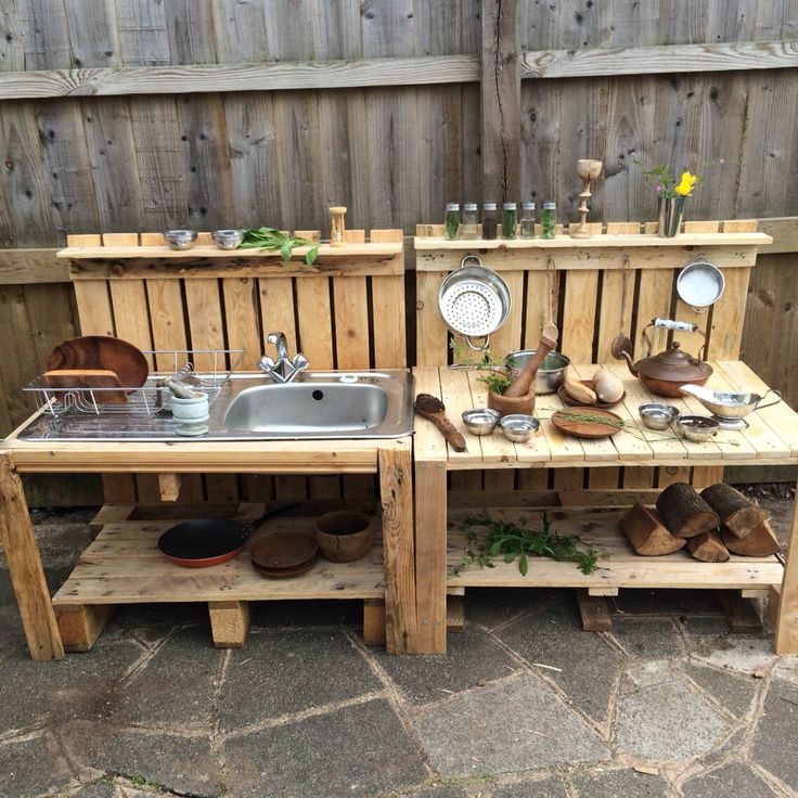 ideas geniales para las cocinas al aire libre chalet pinterest schlammk che outdoor k che. Black Bedroom Furniture Sets. Home Design Ideas
