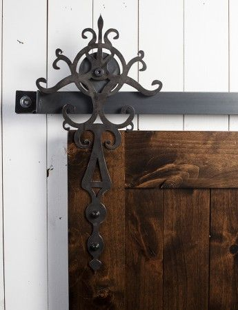 Hardware doors and hanging door hardware on pinterest for Hanging barn door in house