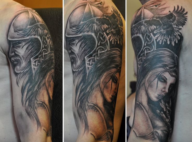 37 best nordic sleeve tattoos for men images on pinterest for Norse tattoo sleeve