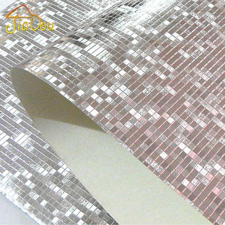 Pas cher Paillettes De luxe mosaïque De fond papier peint mur papier peint…