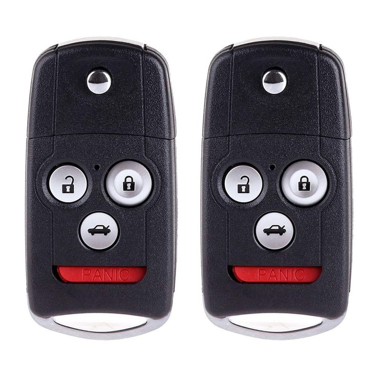 SCITOO Replacement Fit 2X 4 Button Uncut Ignition Key Fob