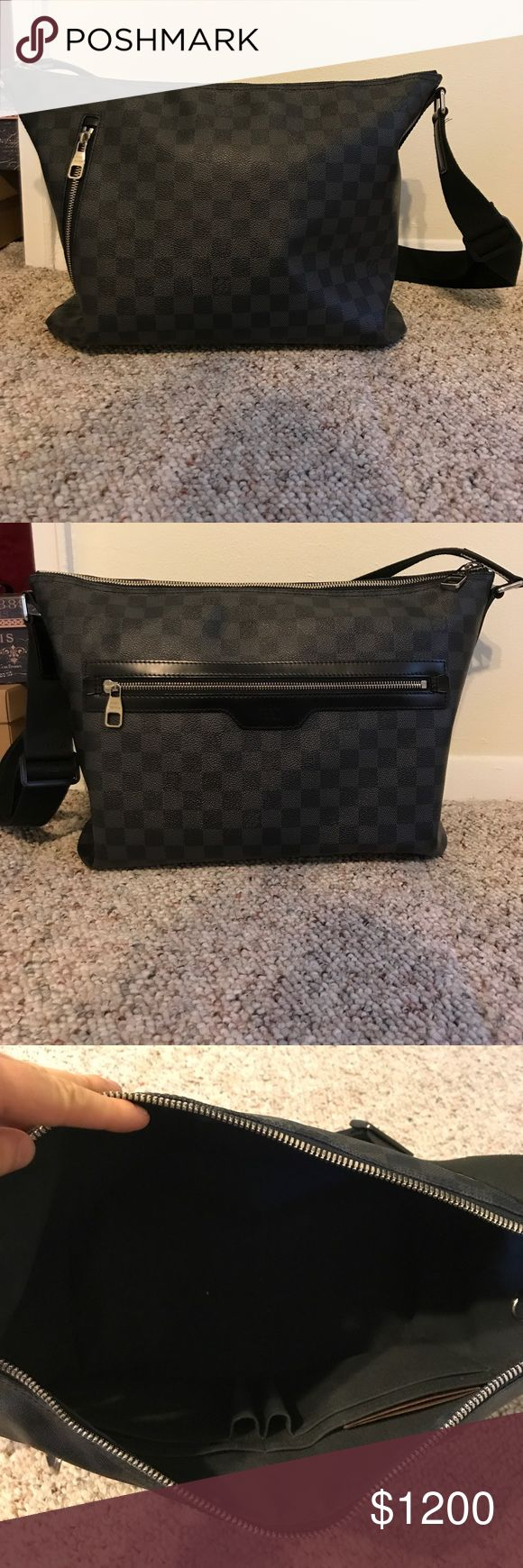 Authentic Louis Vuitton Damier Graphite Mick MM Authentic Louis Vuitton. Used, but still in excellent condition.  Comes with dust bag.  Price is firm. Louis Vuitton Bags Messenger Bags
