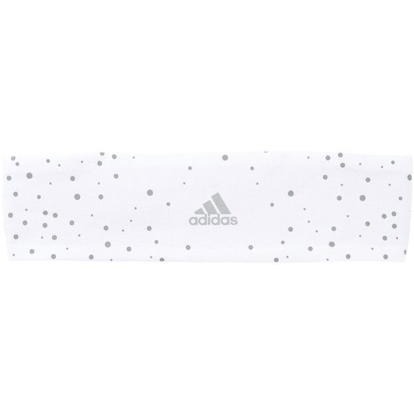 adidas Climacool Hairband ($12) ❤ liked on Polyvore featuring accessories, hair accessories, white, hair band headband, elastic headbands, polka dot headwrap, sports headbands and head wrap headband