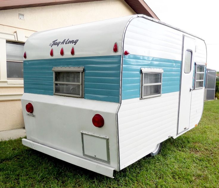 A renovated 1971 Tag A Long vintage camper in Sarasota, Florida. | pinned by haw-creek.com