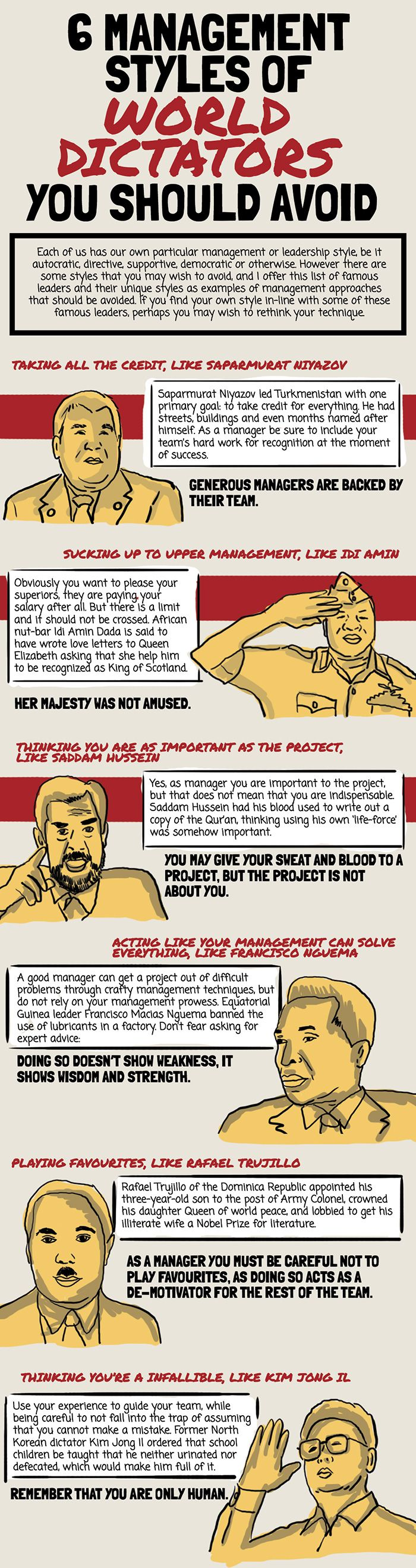 6 management styles of world dictators you should avoid