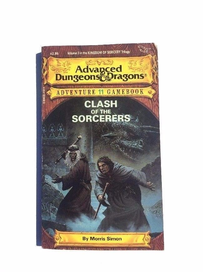 Clash of The Sorcerers Adventure 11 Gamebook Advanced Dungeons And Dragons