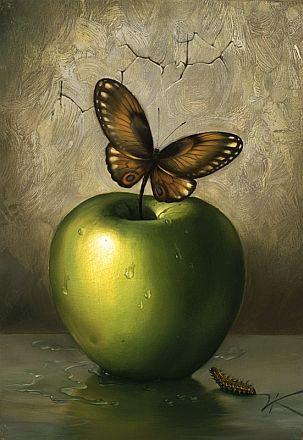 Lovely still life painting by Vladimir Kush