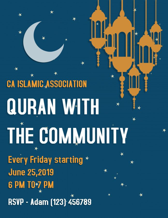 Ramadan Community Event Flyer Template Ramadan Poster Templates