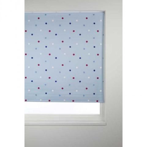 Dotty blue roller blind. #WorldStores, #polkadot http://www.worldstores.co.uk/p/Sunlover_Blackout_Dotty_Blue_Roller_Blind.htm