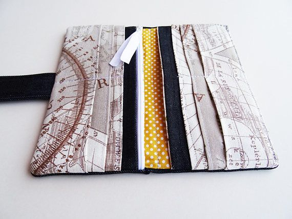 This beautiful Vegan Wallet is made with denim fabric. Most phones will fit also. For more strength this wallet is wadding with soft vinyl fabric inside. FABRIC: Main fabric and lining – microfiber, cotton, polyester, velkro tape Soft vinyl fabric wadding  SIZE: = when open: 8*8in (20*19