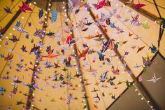 Tipi Garden Wedding with 1000 Origami Cranes By Lola Rose Photography - Boho Weddings: UK Wedding Blog