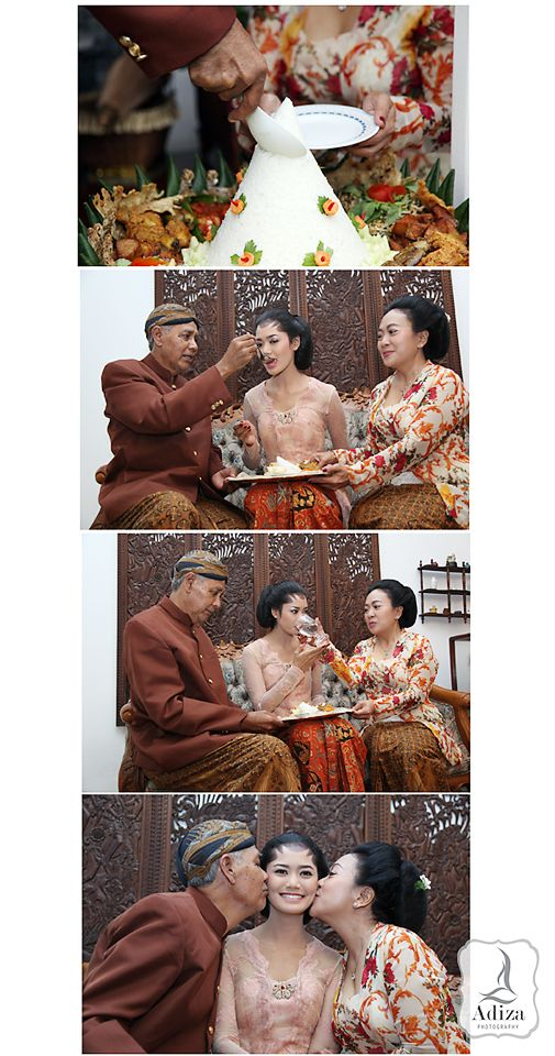 """The end of the Bridal shower ceremony is """"Dulangan"""", Bride's parents feeding the bride for the last time. Father give a food and mother give a drink."""