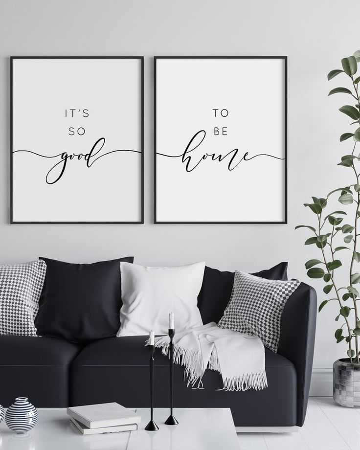 It's so good to be home, set of 2 prints, large living room wall art, home wall decor, quote print