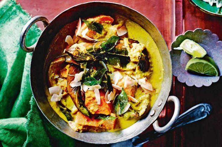 Eggplant and kumara curry