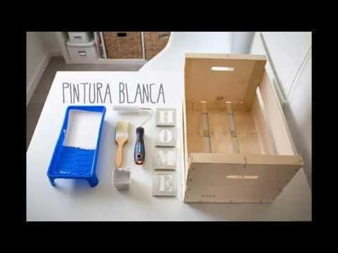 BohoDecoChic - DIY Caja de madera de frutas / DIY Wood fruit box - YouTube