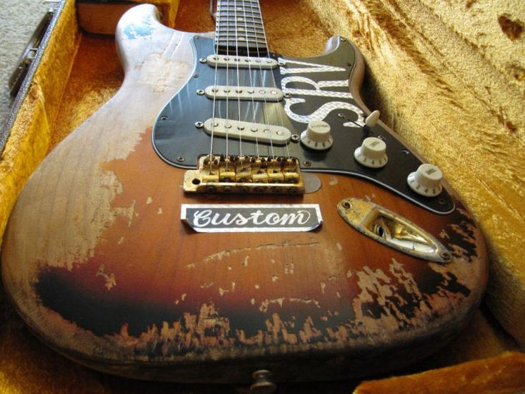 SRV #1... a guitar that has been loved through many a song... Wow!