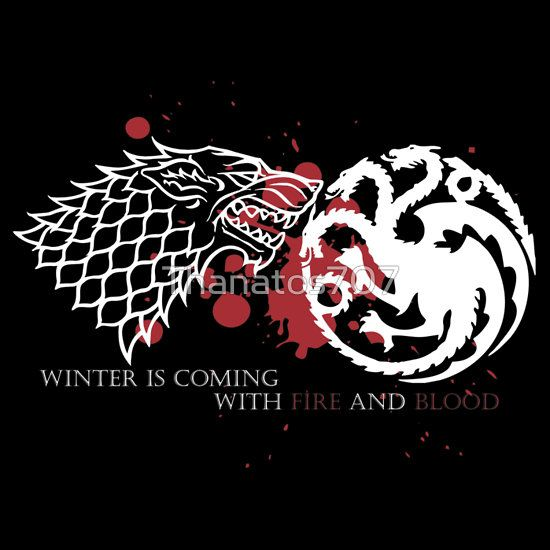 Amazing gift for Xmas!! Winter is coming with Fire and Blood