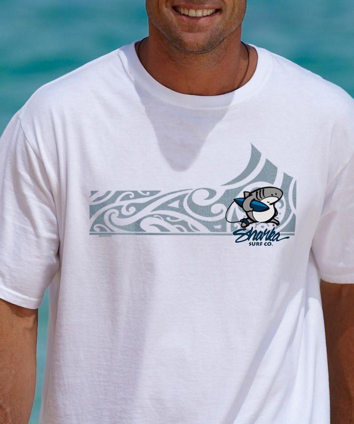 Sharka Tatao - White Crew Neck T-Shirt