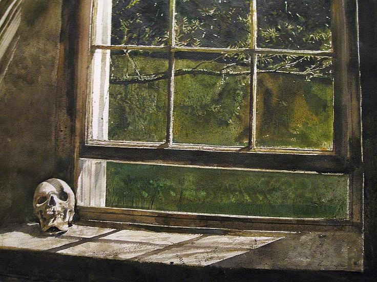 Andrew Wyeth (1917 — 2009, USA) Untitled. 1983 watercolor and drybrush on paper. © Andrew Wyeth www.andrewwyeth.com
