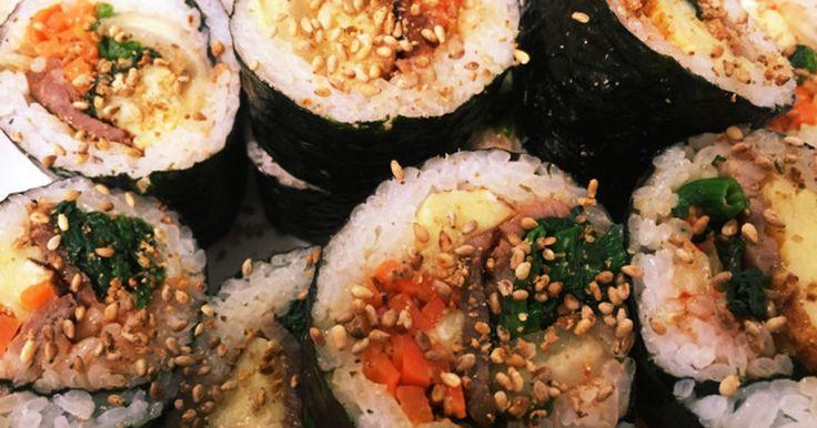 栄養満点!野菜たっぷりのキムパです。カラフルなのでお弁当にもぴったり!ゴマの風味が香ばしくやみつきに… 恵方巻にもどうぞ