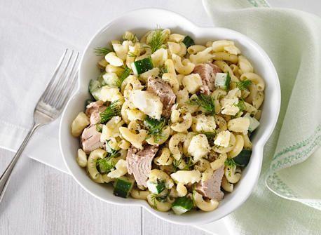 Salade de macaroni au thon et au Cheddar recette | Plaisirs laitiers