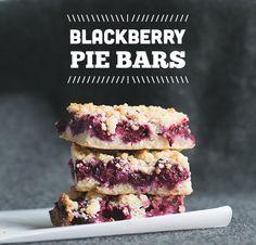 Blackberry Pie Bars // Wit & Vinegar